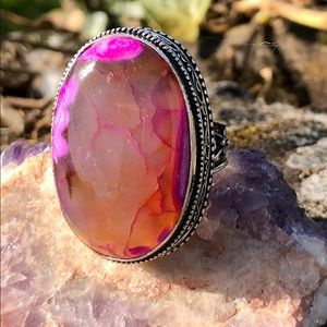 NEW! Pink Botswana Agate Ring